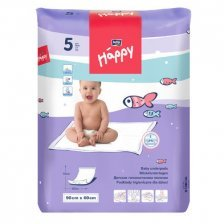 Telo per il cambio usa e getta 90x60cm Happy BellaBaby - 5 pezzi