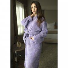 Terry kimono bathrobe in organic cotton