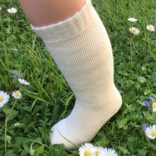 Terry knee-high socks in organic cotton