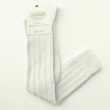Thick knee high socks in undyed organic cotton