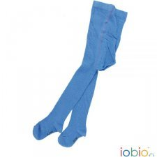 Tights azure striped in organic cotton
