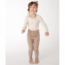 Tights beige in 100% organic cotton
