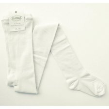 Tights for woman in undyed organic cotton
