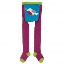 Unicorn plain tights girl in organic cotton