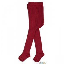 Tights Popolini bordeaux in organic cotton