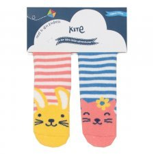 Toddler grippy socks in organic cotton- two pack