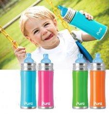 Toddler bottle stainless steel Pura Kiki 325ml