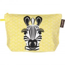 Toilet bag Mibo Zebra in organic cotton
