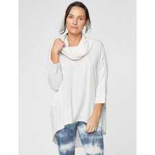 Top neck roll Raina in bamboo and Tencel