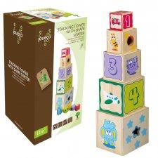 Torre impilabile con formine in legno ecologico