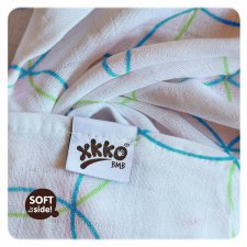 Towel in bamboo blue circles
