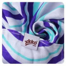 Towel in bamboo ocean blue waves
