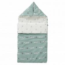 Travel dachsy baby sleeping bag in organic cotton