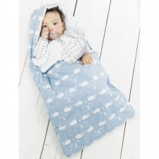 Travel whale baby sleeping bag in organic cotton