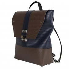 Tre Terzi backpack in vegetable faux-leather and recycled pvc