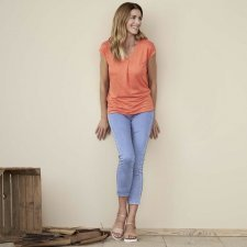 Treggings donna Jeans Style Bleached in cotone biologico