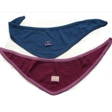 Triangular scarf in wool and silk