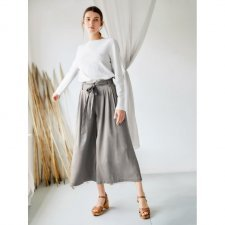 Trousers Culotte Eshi Sage in modal and bamboo