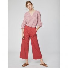 Trousers culottes Osvaldo in organic cotton