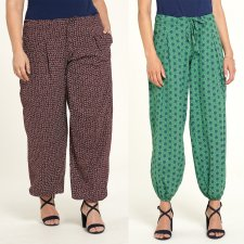 Cambric women's trousers in organic cotton