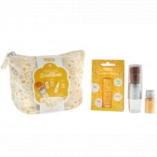 Trousse scintillante dorata con Lucidalabbra e Polvere Oro Biologica