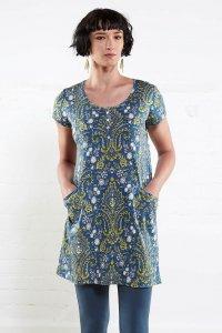 Tunic dress Henley in organic cotton