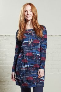 Tunic dress in organic cotton