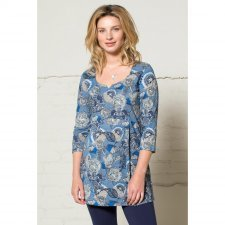 Tunic top Mysore in cotton with 3/4 sleeve
