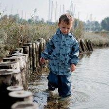 Tuta 2 pezzi da pioggia Squali per bambini in Poliestere riciclato