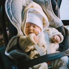 Tuta Overall per neonati in PILE di lana biologica