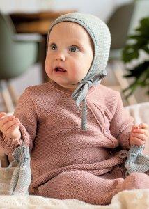 Tutina a maglia per neonati in pura lana biologica