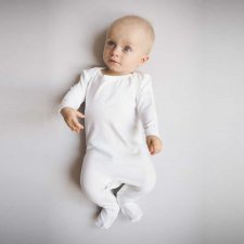 Tutina Baby Bianco Panna in Bamboo nanaf organic