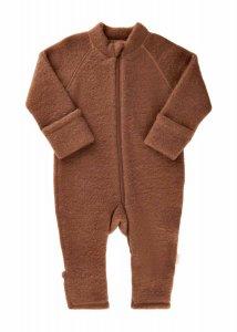 Tutona overall Softwool per neonati in pile di pura lana naturale