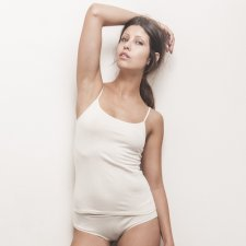 Underwear top thin straps in organic cotton