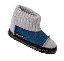 Unisex ankle high slippers in organic wool