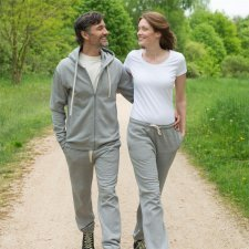 Unisex gray jogging pants in organic cotton