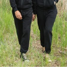 Unisex black jogging pants in organic cotton