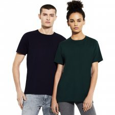Unisex t-shirt in cold colors in organic cotton