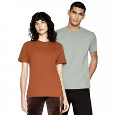 Unisex t-shirt Warm colors in organic cotton