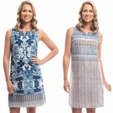 Alcazar reversible dress in organic cotton voile