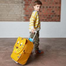 Valigia Trolley Timmy Tiger per bambini in Pet riciclato Equosolidale