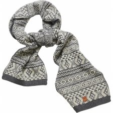 Valley jacquard scarf in Wool and Organic Cotton