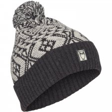Valley jacquard beanie in Wool and Organic Cotton