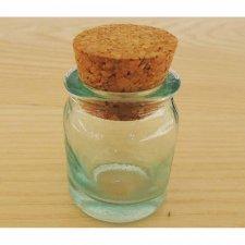 Vasetto vetro 30 ml con tappo di sughero