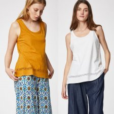 Vest top Rena in hemp and organic cotton