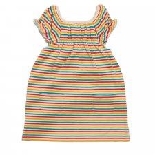 Vestito Arcobaleno per bambine in puro Cotone Biologico Fairtrade