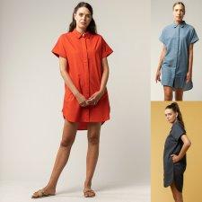 Vestito camicione AMOLI da donna in Cotone Biologico Equosolidale