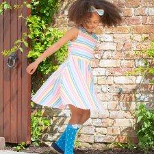 Vestito Deckchair da Bambina in Cotone Biologico