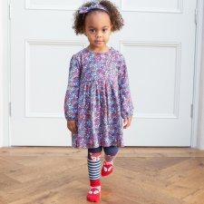 Vestito Fiori e Frutti di Bosco per bambina in cotone biologico