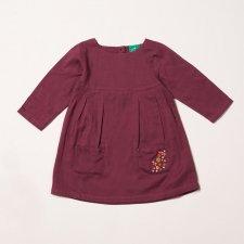Vestito Funghetti per bambina in 100% cotone biologico